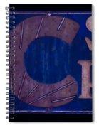 Antique Ac Spark Plug Sign Spiral Notebook