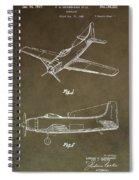 Antique Airplane Patent Spiral Notebook