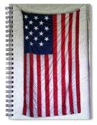 Antique American Flag Spiral Notebook
