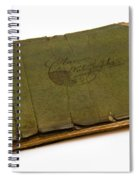 Antique Autograph Book Spiral Notebook