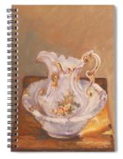 Antique Pitcher And Bowl Spiral Notebook