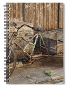 Antique Bicycle In The Town Of Daxu Spiral Notebook