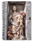 Antique Blessed Virgin Statue Spiral Notebook