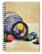Antique Bottle With Marbles Spiral Notebook