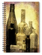 Antique Bottles From The Past Spiral Notebook