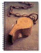 Antique Brass Military Whistle Spiral Notebook