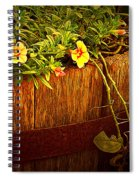Antique Bucket With Yellow Flowers Spiral Notebook