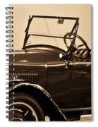 Antique Car In Sepia 1 Spiral Notebook