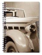 Antique Car In Sepia 2 Spiral Notebook