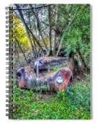 Antique Car With Trees In Windshield Spiral Notebook
