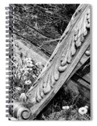 Antique Carved Wood Facade Piece Spiral Notebook