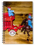 Antique Cast Iron Toy Spiral Notebook
