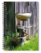 Antique Cream Separator Spiral Notebook