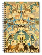 Antique Cutout Of Animals  Spiral Notebook