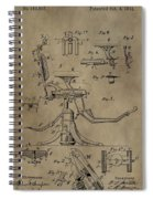Antique Dental Chair Patent Spiral Notebook