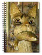 Antique Dentzel Menagerie Carousel Cat With Fish In Rochester New York Spiral Notebook