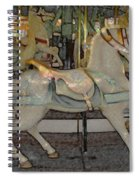 Antique Dentzel Menagerie Carousel Horse Colored Pencil Effect Spiral Notebook