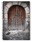 Antique Door Wood Spiral Notebook