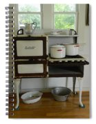 Antique Estate Stove With Cookware Spiral Notebook