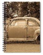 Antique Ford Car Sepia 1 Spiral Notebook