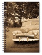 Antique Ford Car Sepia 2 Spiral Notebook