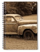 Antique Ford Car Sepia 4 Spiral Notebook