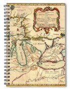 Antique French Map Of The Great Lakes 1755 Spiral Notebook