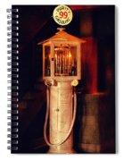 Antique Gasoline Pump Spiral Notebook