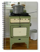 Antique Green Stove And Pressure Cooker Spiral Notebook