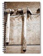 Antique Hammers Spiral Notebook