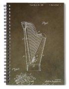 Antique Harp Patent Spiral Notebook