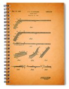 Antique Hockey Stick Patent 1935 Spiral Notebook