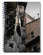 Antique Ironwork Wood And Rustic Walls Spiral Notebook
