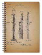 Antique Lamp Post Attachment Patent Spiral Notebook