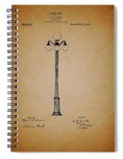 Antique Lamp Post Patent Spiral Notebook