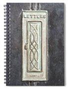 Antique Letter Pox Spiral Notebook