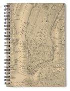 Antique Manhattan Map Spiral Notebook