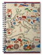 Antique Map Of Europa 1563 Spiral Notebook