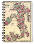Antique Map Of Italy Spiral Notebook
