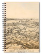 Antique Map Of New Braunfels Texas 1881 Spiral Notebook