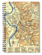 Antique Map Of Rome During Antiquity 1870 Spiral Notebook