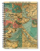 Antique Map Of The Baltic And North Sea Ports  Spiral Notebook