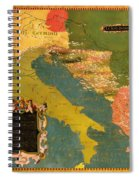 Antique Map Of The Dalmatian Shore 1578 Spiral Notebook