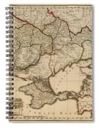 Antique Map Of The Russian Empire In Russian 1800 Spiral Notebook
