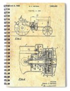 Antique Massey-ferguson Tractor Patent 1935 Spiral Notebook
