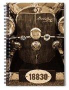 Antique Mercedes Benz In Sepia Spiral Notebook