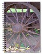 Antique Metal Wheel Spiral Notebook