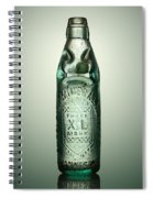 Antique Mineral Glass Bottle Spiral Notebook