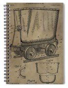 Antique Mining Trolley Patent Spiral Notebook