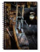 Antique Mortising Machine Spiral Notebook